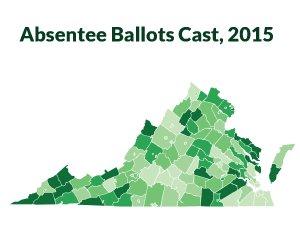 Absentee Ballots Cast, 2015