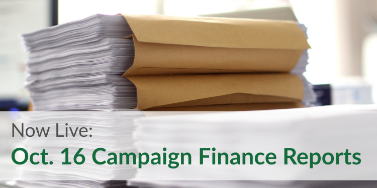 Now Live: October 16 Campaign Finance Reports