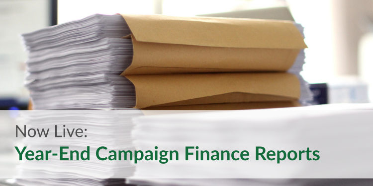 Now Live: Year-End Campaign Finance Reports