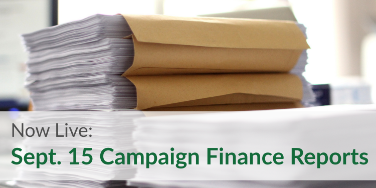 Sept 15 campaign finance reports