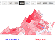 Virginia's Gubernatorial Voting, 1961-2017
