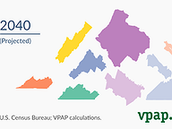 What if Virginia's regions were resized based on population?