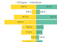 Gubernatorial Primary Votes by Region