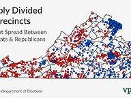 Sharply Divided Precincts: 2013 v 2017